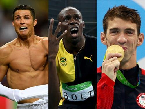 Ngôi sao thể thao số 1: Bolt, Phelps hay Ronaldo