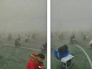 Thế giới - TQ: Học sinh bị bắt thi ngoài trời đầy khí bẩn mịt mù