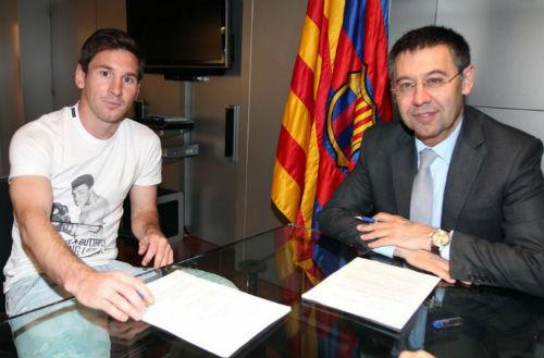"""Barca - Messi: Tình yêu """"trị giá"""" 825.000 bảng/tuần"""