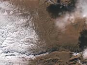 Thế giới - Choáng ngợp ảnh vệ tinh tuyết rơi phủ trắng sa mạc Sahara