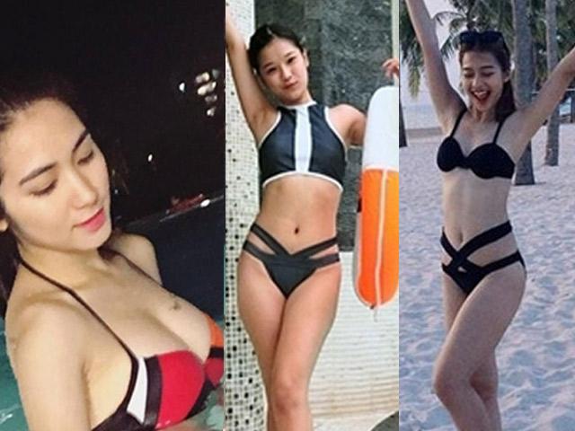 Hòa Minzy sexy đi bơi vẫn không bạo bằng 2 cô bạn