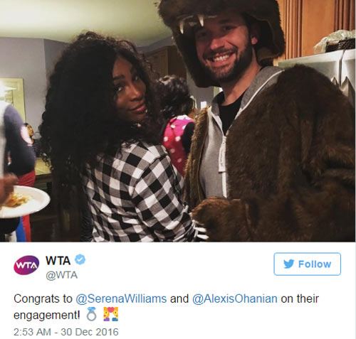 Tin thể thao 30/12: Serena bất ngờ đính hôn