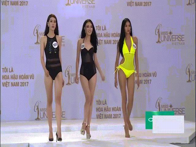 Cận cảnh phần thi áo tắm sexy của thí sinh Hoa hậu Hoàn vũ VN