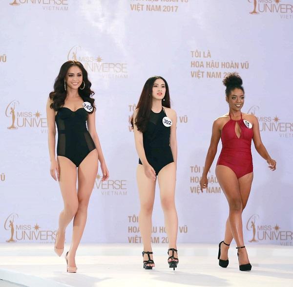 Cận cảnh phần thi áo tắm sexy của thí sinh Hoa hậu Hoàn vũ VN - 6