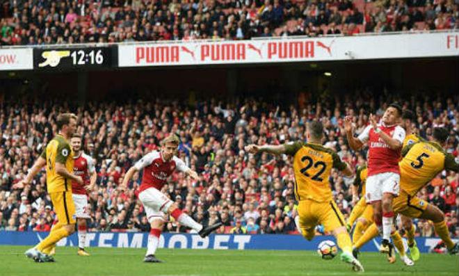 """Arsenal - Brighton: Bàng hoàng với 2 """"quả đạn pháo"""""""