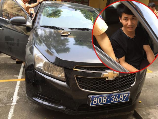 """Cảnh sát vây bắt thanh tra """"rởm"""" lái ô tô đeo biển 80B giả"""