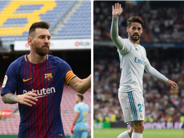 Tiêu điểm Vòng 7 La Liga: Barca - Messi vô đối, Isco giải cứu Real
