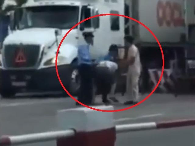 Đình chỉ 3 nhân viên hành hung tài xế xe tải trốn phí BOT - 1