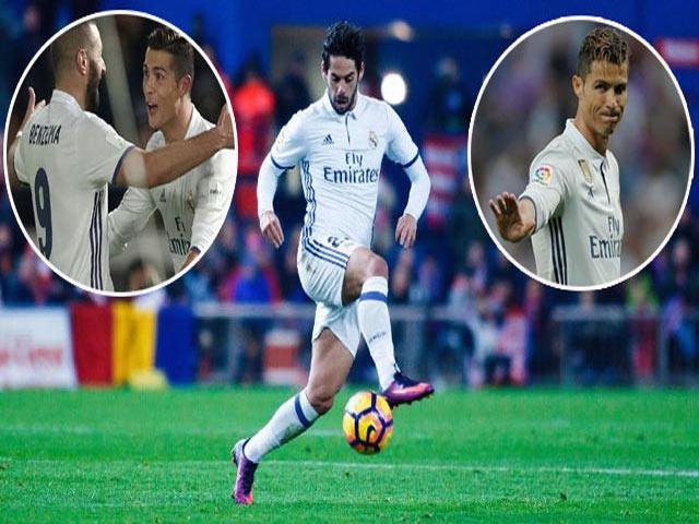 """Ronaldo sa sút La Liga: Vì """"người tình"""" Benzema và """"kẻ thứ 3"""" Isco"""