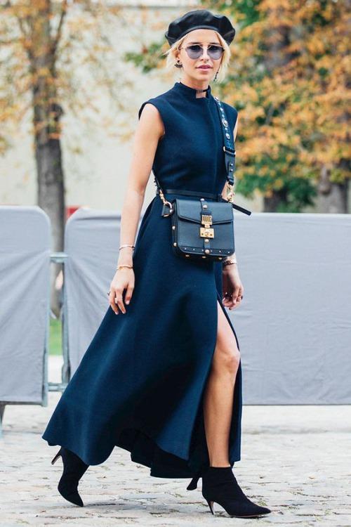 9 cách diện váy dài đẹp ngất ngây cho mùa thu - 1
