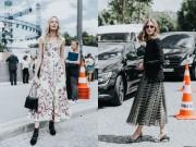 9 cách diện váy dài đẹp ngất ngây cho mùa thu
