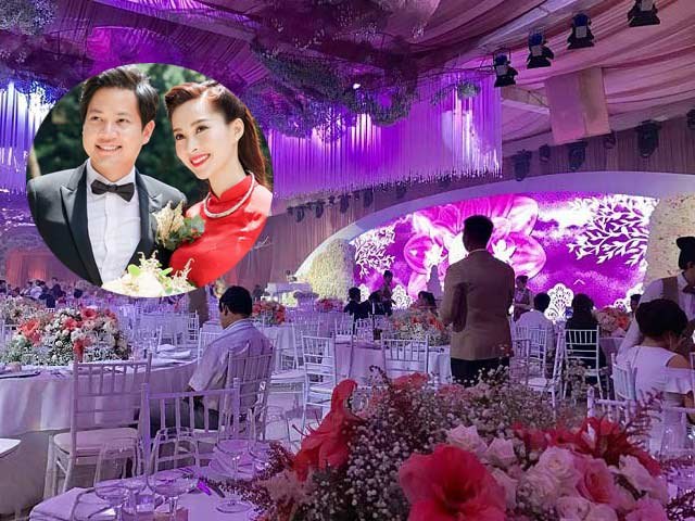 Tiệc cưới lộng lẫy, xa hoa của Hoa hậu Thu Thảo và chồng đại gia