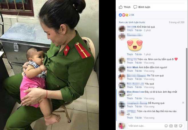 Nóng 24h qua: Nữ công an xinh đẹp cho trẻ bị bỏ rơi bú sữa