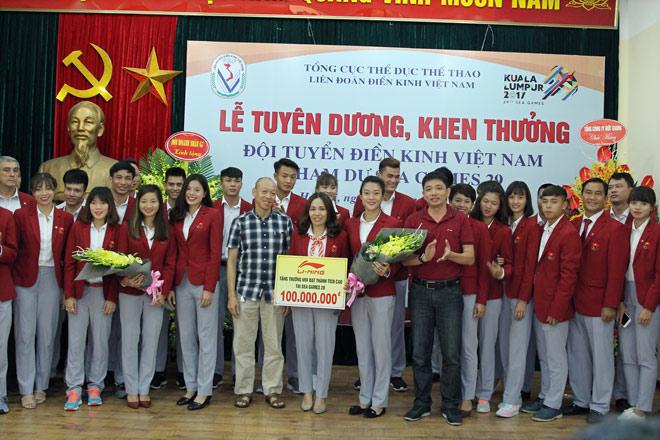 Li-Ning mừng điền kinh Việt Nam đạt thành tích xuất sắc tại SEA Games 29 6