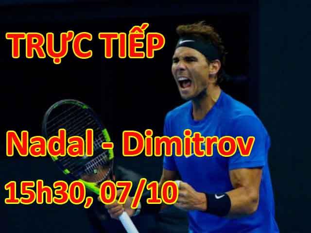 """Nadal - Dimitrov: Bùng cháy & """"kết liễu"""" trong set 3 (Bán kết China Open) 2"""