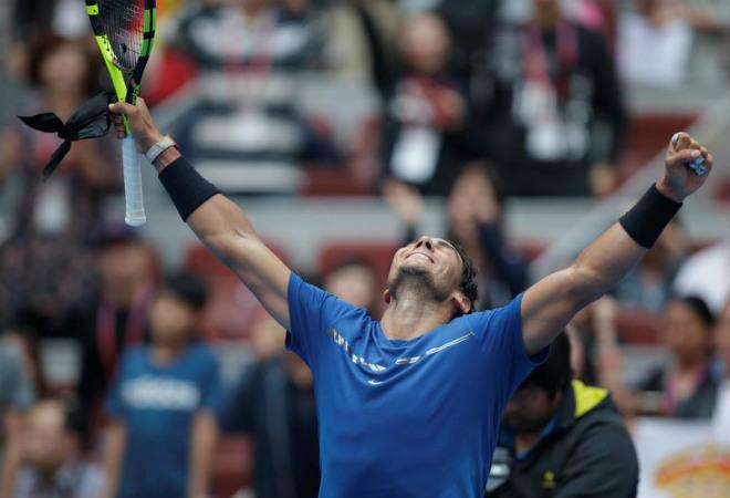 """Nadal - Dimitrov: Bùng cháy & """"kết liễu"""" trong set 3 (Bán kết China Open) 1"""