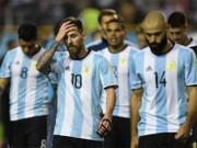 """Argentina nguy cơ bị loại: Nỗi ám ảnh  """" chân gỗ """"  như MU 2016/17"""