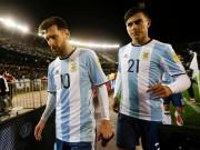 Biến  ở tuyển Argentina: Messi gây thất vọng, đàn em Dybala  đảo chính