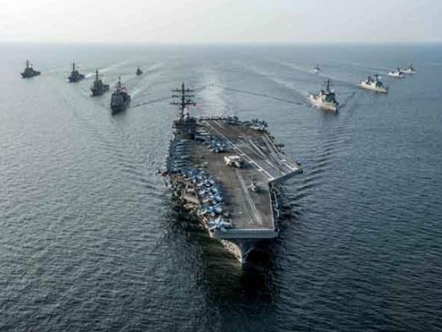 3 đội tàu sân bay Mỹ đem dàn vũ khí hùng hậu áp sát Triều Tiên - 10