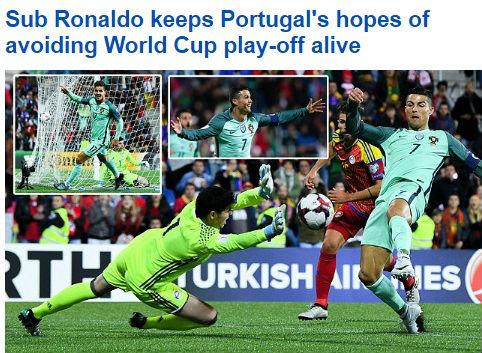 """Ronaldo cứu Bồ Đào Nha: Triệu fan """"dìm"""" Messi, báo chí tung hô 2"""