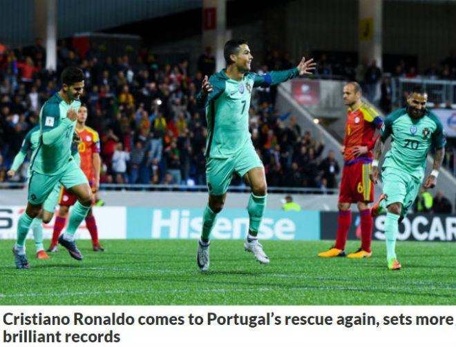 """Ronaldo cứu Bồ Đào Nha: Triệu fan """"dìm"""" Messi, báo chí tung hô 3"""
