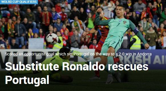 """Ronaldo cứu Bồ Đào Nha: Triệu fan """"dìm"""" Messi, báo chí tung hô 4"""