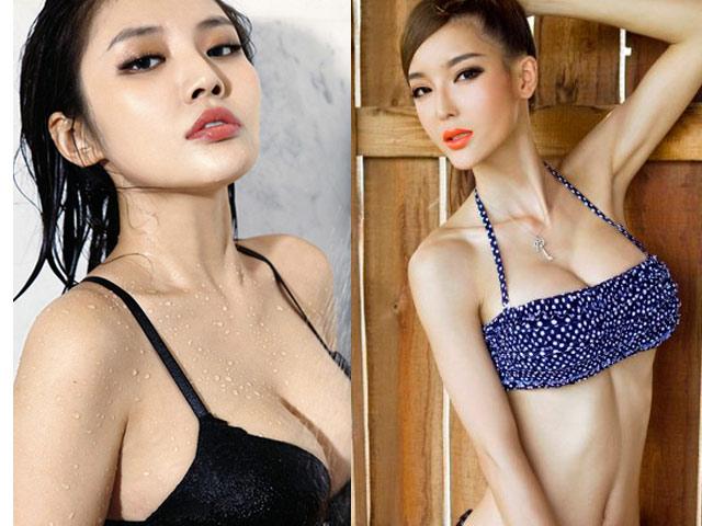 2 cô nàng nóng bỏng phát khổ sở vì khuôn ngực 1 mét
