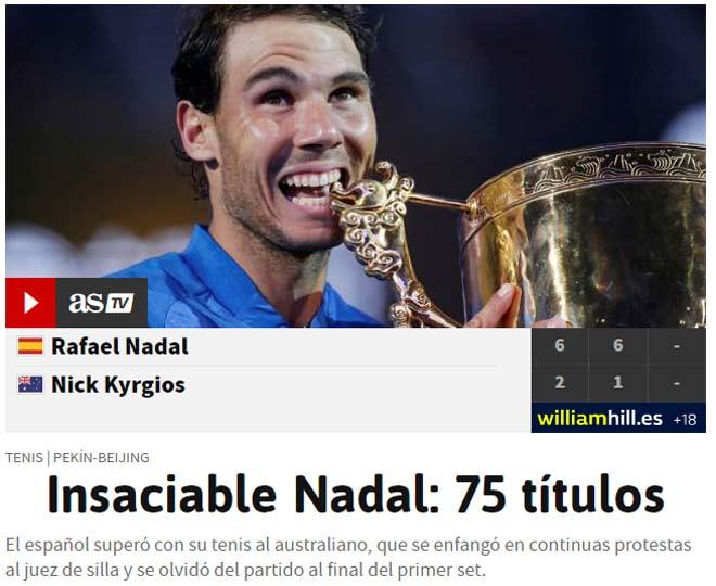 Báo chí thế giới ngả mũ Nadal, fan gọi là Vua tennis 3