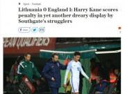 ĐT Anh dự World Cup với siêu kỷ lục vẫn nhận  mưa gạch đá