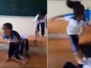Tin tức trong ngày - Nữ sinh cấp 2 bị bạn đánh dã man, xé áo hở cả nội y trên bục giảng