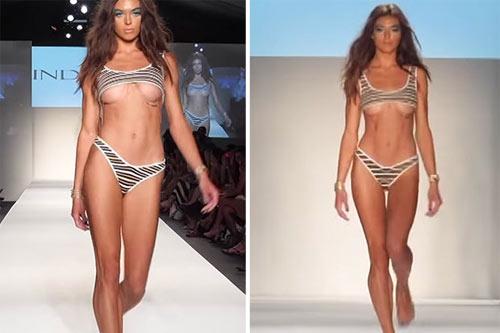 Khán giả thót tim vì người mẫu mặc bikini ngắn tới khó tin khi diễn - 2