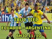 Chi tiết Ecuador - Argentina: Chiến thắng xứng đáng (KT)