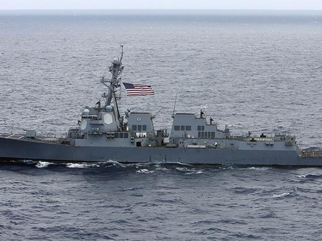 Tàu chiến Mỹ di chuyển gần quần đảo Hoàng Sa