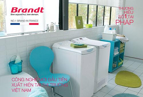 """Brandt Máy giặt sấy """"cửa trên – lồng ngang"""" siêu phẩm đến từ nước Pháp! - 1"""