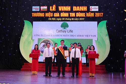 """Cathay VN vinh dự được bình chọn sản phẩm  """"Thương hiệu gia đình tin dùng"""" - 1"""