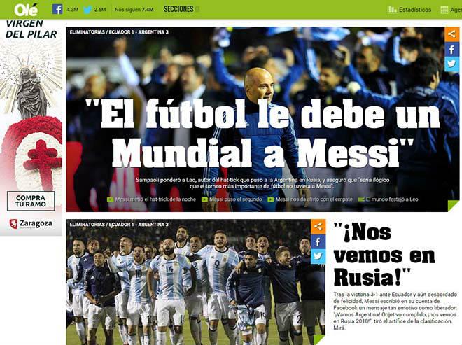 """Báo chí thế giới gọi Messi là """"phép thuật Thượng Đế"""", người Bồ kiêng nể 2"""
