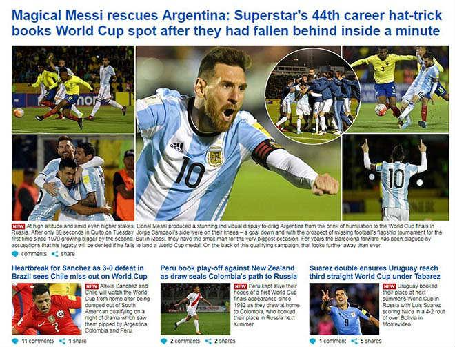 """Báo chí thế giới gọi Messi là """"phép thuật Thượng Đế"""", người Bồ kiêng nể 3"""