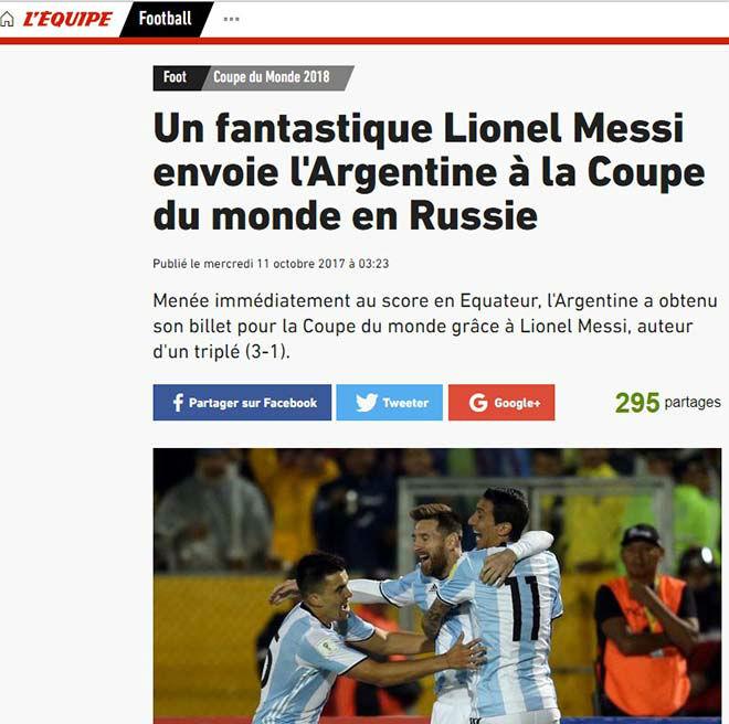"""Báo chí thế giới gọi Messi là """"phép thuật Thượng Đế"""", người Bồ kiêng nể 5"""