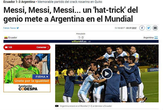 """Báo chí thế giới gọi Messi là """"phép thuật Thượng Đế"""", người Bồ kiêng nể 6"""