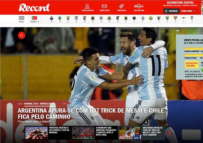 """Báo chí thế giới gọi Messi là """"phép thuật Thượng Đế"""", người Bồ kiêng nể 8"""