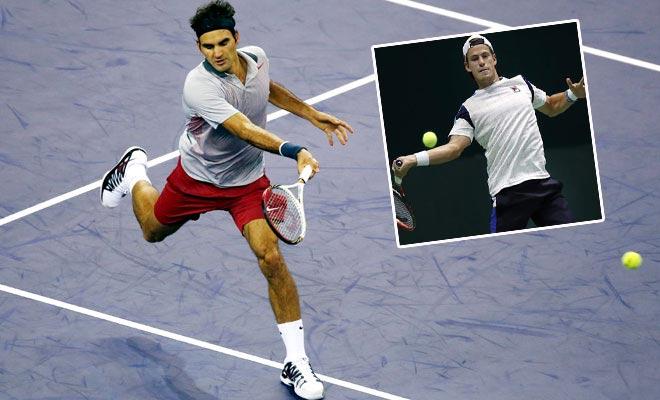 Federer - Schwartzman: Đẳng cấp giao bóng như thần 1