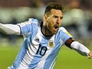 Siêu phẩm vòng loại World cup Nam Mỹ: Messi đá phạt siêu đẳng, vẫn thua kẻ vô danh