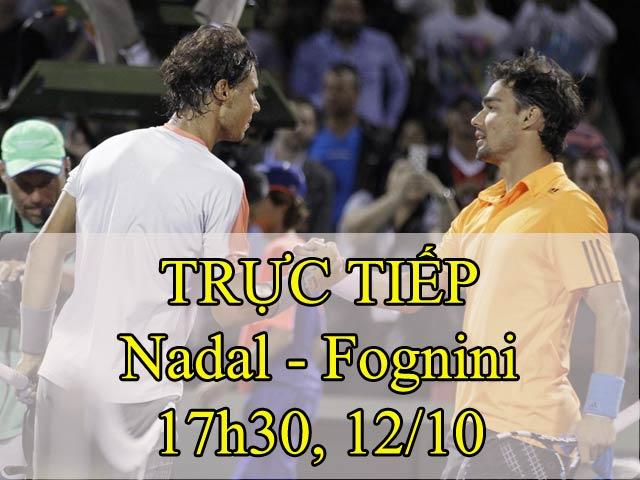 """Nadal - Fognini: Tung đòn sấm sét diệt """"khắc tinh"""" (Vòng 3 Thượng Hải Master) 2"""
