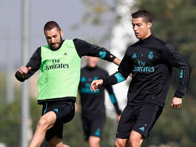 """Real: Benzema trở lại phục vụ, Ronaldo """"tập bắn"""" điên cuồng"""