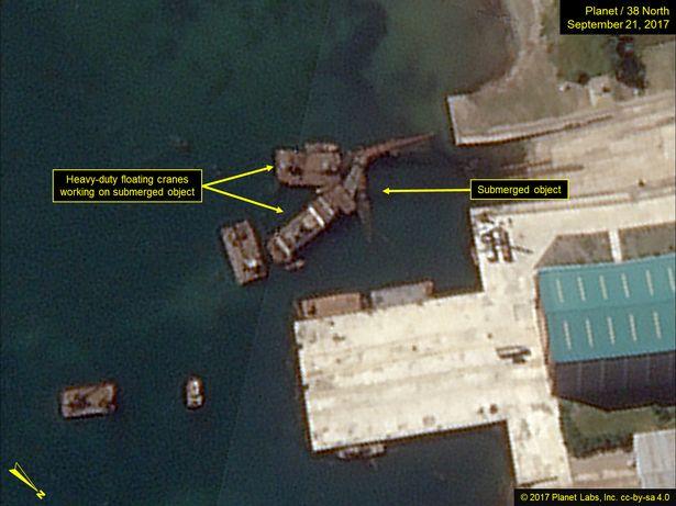 Hoạt động bất thường ở khu tàu ngầm tên lửa đạn đạo Triều Tiên - ảnh 2