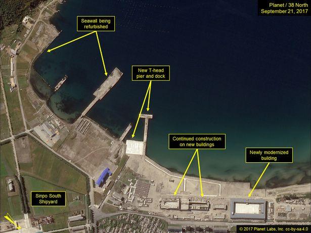 Hoạt động bất thường ở khu tàu ngầm tên lửa đạn đạo Triều Tiên - ảnh 3
