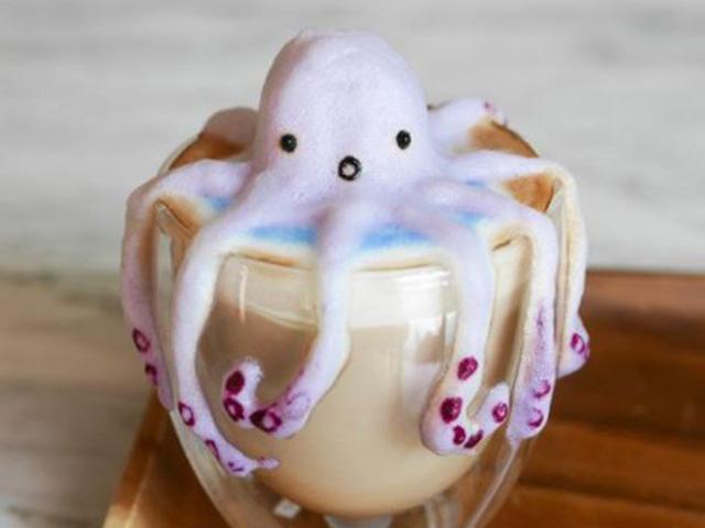 Những ly cà phê latte trở thành tác phẩm nghệ thuật 3D tuyệt đẹp