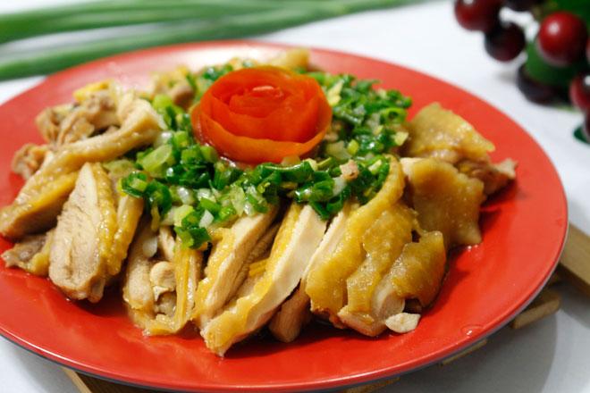 Thịt gà hấp mỡ hành mềm ngọt, béo ngậy ngon không cưỡng nổi - 8