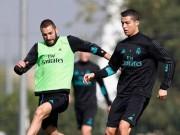 """Bóng đá - Real: Benzema trở lại phục vụ, Ronaldo """"tập bắn"""" điên cuồng"""