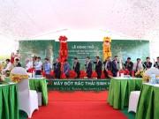 Khởi công xây dựng nhà máy đốt rác thải sinh hoạt, phát điện tại Phú Thọ